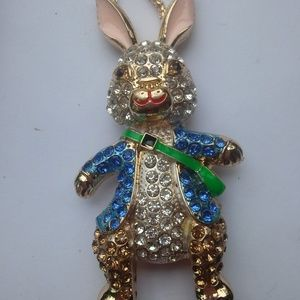 Betsey Johnson Easter Bunny Necklace